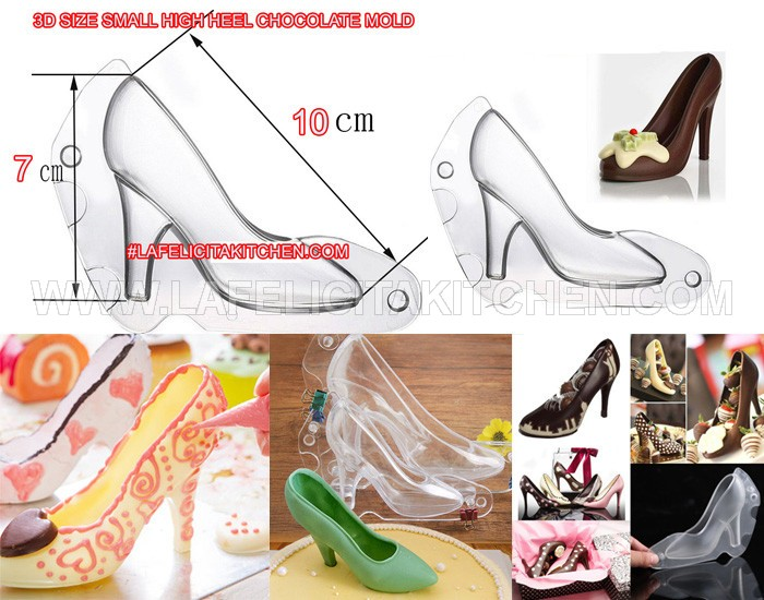 CP 3D SMALL SIZE CHOCOLATE HIGH HEEL MOLD SEPATU