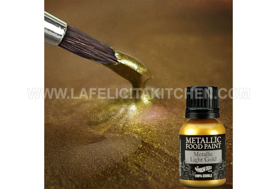 RD METALLIC LIGHT GOLD FOOD PAINT 25g