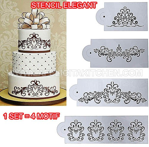 BT STENCIL ELEGANT 1 SET ISI 4 MODEL