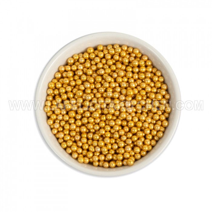 FI  MINI GOLD PEARL DRAGEES 75 GR SPRINKLE