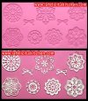 SF480 FX14-208 FLOWER & RIBBON LACE SILICONE MOLD