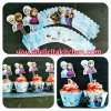 WR017 FROZEN ANNA ELSA CUPCAKE WRAPPER SET 10PC