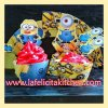 WR019 MINION MIX CUPCAKE WRAPPER SET 10PC