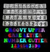 BT541 KY67 - 4PC UPPER CS ALPHABET & NUMBER GROOVY CLIKSTIX