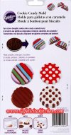 WL2115-0006 CANDY MOLD DOTS & STRIPES COOKIE