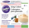 FI468 PASTEL SET 4 - WILTON 4 ICING COLORS SET