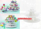 TE Cake Pop & Cupcake Stand Rak TIER 3-Tiers Display