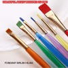 BT553 COLORFUL ARTIST BRUSHES ISI 6 PC