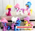 TK LITTLE PONY W/ HAT MIX 6PCS/SET