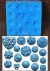 SF187 SILICONE MOLD BLUE BUTTONS-16 W311