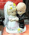 CL0 WEDDING GROOM BLACK BRIDE SLEYER 13CM