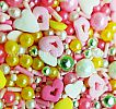 FI 30G SPRINKLE PINK VALENTINE MIX HEART LOVE